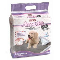 Hygienické podložky pre psy s aktívnym uhlím 60 x 60 cm, 10 ks