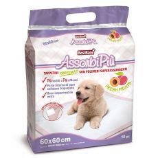 Hygienické podložky pre psy s ovocnou vôňou 60 x 60 cm, 10 ks