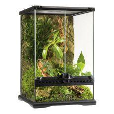 Terárium s pozadím vyrobené zo skla 30 x 30 x 45 cm