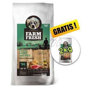 Farm Fresh Lamb and Rice Large Breed 15 + 2kg GRATIS