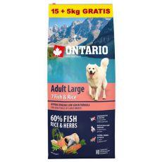 ONTARIO Adult Large 7 Fish & Rice 15+5kg ZDARMA