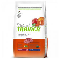 Trainer Natural Adult Medium, hovädzie a ryža 12kg
