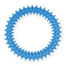 TPR Gumený kruh s výstupkami - modrý 12,5cm