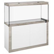 Akvárium so skrinkou FINE LINE 80x35cm LED 17W bielo-hľuzovkové