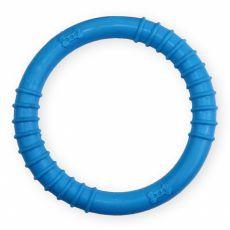 TPR Gumený kruh s výstupkami - modrý 9,5cm