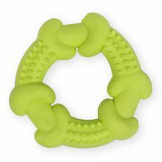 TPR Gumený kruh s výstupkami - žltý 10,5cm