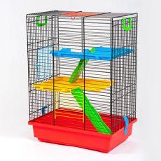 Klietka pre škrečka TEDDY II color s plastovou výbavou