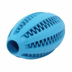 Hračka pre psa - rugby lopta, modrá 11 cm