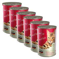 Konzerva BEWI CAT Meatinis WILD - 6 x 400 g, 5+1 GRATIS