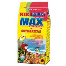 KIKI MAX MENU Cotorritas - krmivo pre korely a agapornisy 1kg