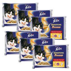 Felix Sensations Sauces - morčacie a jahňacie v omáčke, 6x400g