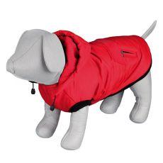 Zimná bunda Palermo pre psa s kapucňou, červená - 50cm