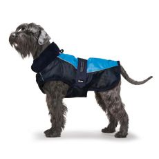 Vesta s golierom pre psa, modročierna - 65cm