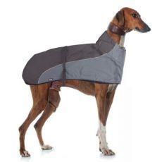 Vesta GREYHOUND s golierom pre psa, sivočierna - 50cm