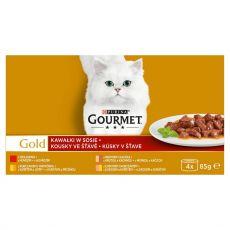 Konzerva Gourmet GOLD - kúsky v šťave, 4 x 85 g