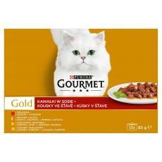 Konzerva Gourmet GOLD - kúsky v šťave, 12 x 85 g