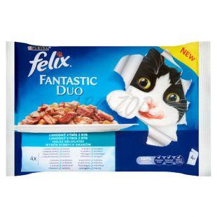 Kapsičky FELIX Fantastic Duo - lahodný výber z rýb, 400 g