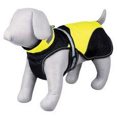 Kabát pre psa Safety Flash čierno žltý so svetlom, L 55cm