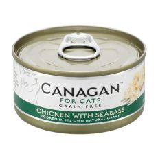 Konzerva CANAGAN CAT Chicken with Seabass 75 g