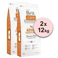 Brit Care Dog Adult Medium Breed Lamb & Rice 2 x 12kg