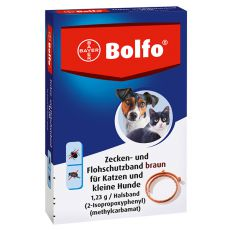 Antiparazitný obojok BOLFO pre malé psy a mačky, 35 cm