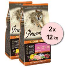 Primordial GF Puppy Chicken & Seafish 2 x 12 kg