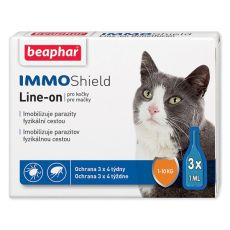 BEAPHAR IMMO SHIELD Line-on MAČKA 3 x 1 ml
