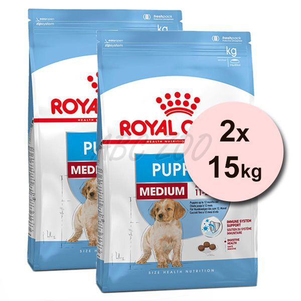 67323c5012 ROYAL CANIN MEDIUM JUNIOR 2 x 15 kg · Royal Canin Medium Puppy granule pre  stredné šteňatá 2 x 15 kg · Royal Canin ...
