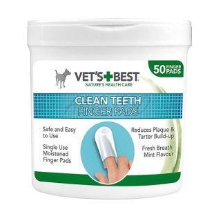 Čistiace utierky na zuby pre psy VET´S BEST, 50 ks
