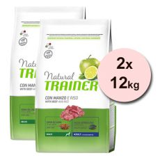 Trainer Natural Adult Maxi, hovädzie a ryža 2 x 12 kg