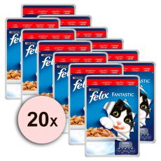 Felix krmivo - hovädzie mäso v želé, 20 x 100 g