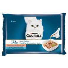 Kapsičky GOURMET PERLE Gravy Delight - ryby, 4 x 85 g