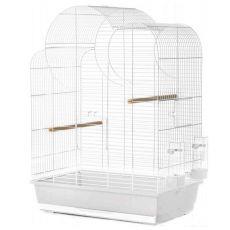 Klietka pre papagáje ELIZA, biela - 54 x 34 x 75 cm