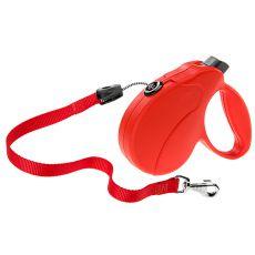 Vodítko Amigo Easy Medium do 25 kg - 5 m lanko, červené