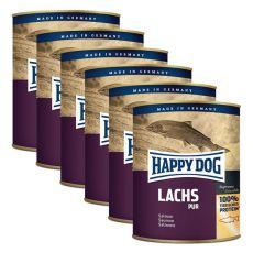 Happy Dog Pur - Lachs 6 x 800 g / losos, 5+1 GRATIS