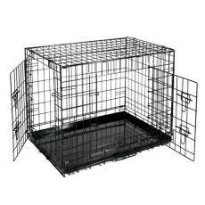 Klietka Dog Cage Black Lux - 2x dvierka, XS - 50,8 x 33 x 38,6 cm
