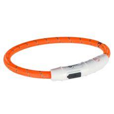 Svietiaci LED obojok XS-S, oranžový 35 cm
