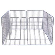 Ohrádka Dog Park Grey Lux 8-hran, XXL - 80 x 106 cm