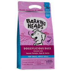 BARKING HEADS Doggylicious Duck GF ADULT SMALL BREED 1,5 kg