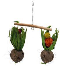 Hojdačka pre vtáky - kokosy, 30 x 50 cm