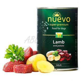 Konzerva NUEVO DOG Adult Lamb & Potato 400 g