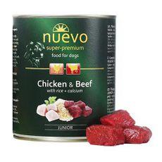 Konzerva NUEVO DOG Junior Chicken & Beef 800 g