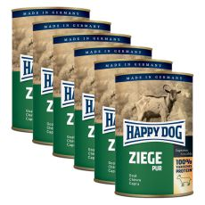 Happy Dog Pur - Goat / koza, 6 x 400g, 5+1 GRATIS