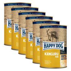 Happy Dog Pur - Kangaroo / klokan, 6 x 400g, 5+1 GRATIS