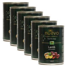 Konzerva NUEVO DOG Adult Lamb & Potato 6 x 400 g