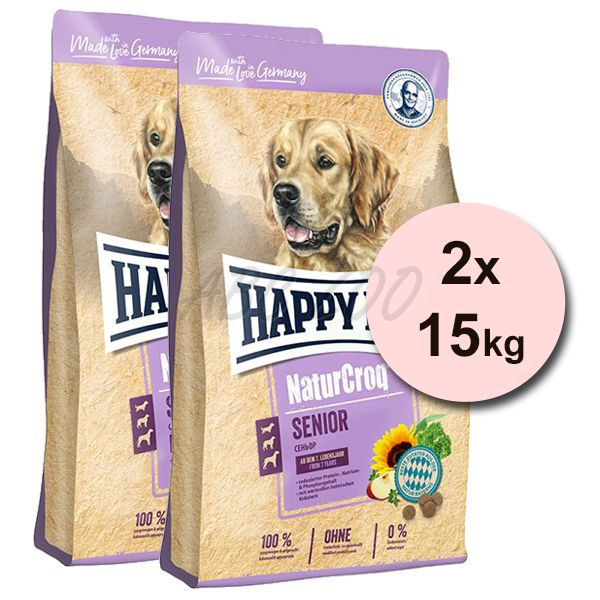 happy dog naturcroq senior 2 x 15 kg abc zoo. Black Bedroom Furniture Sets. Home Design Ideas