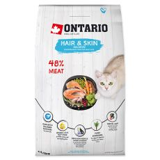 Ontario Cat Hair & Skin Salmon 6,5 kg