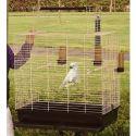 Klietka pre vtáky INCA 72 hnedo - béžová, 72 х 44 х 82 cm