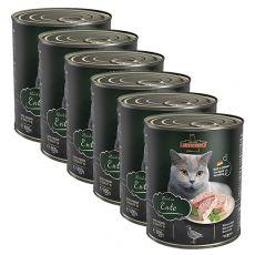Konzerva pre mačky Leonardo, kačka 6 x 800 g