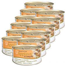 Applaws Cat Jelly - konzerva pre mačky s kuraťom a makrelou, 12 x 70g